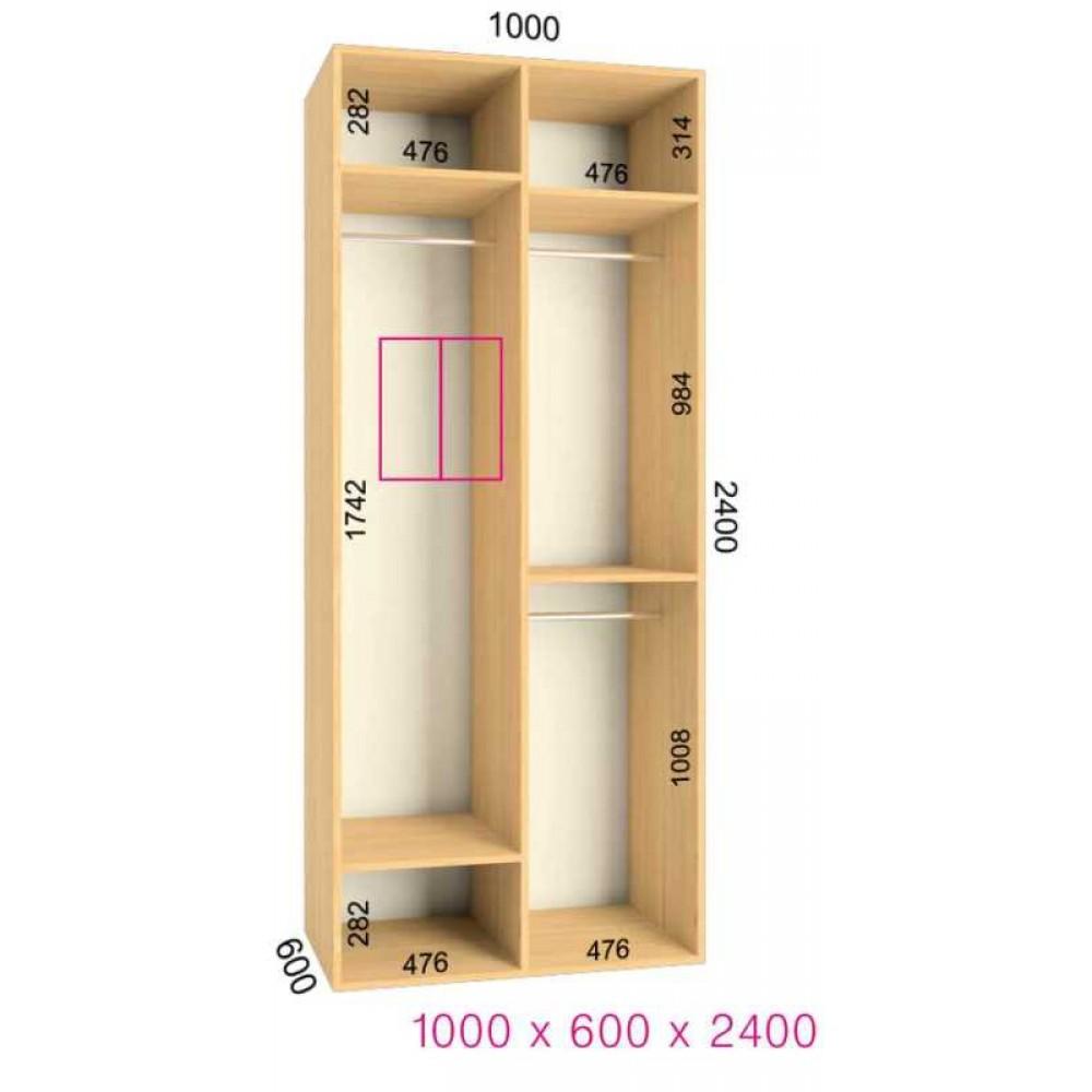 Шкаф-купе Ультра (1.0х0.60х2.4)