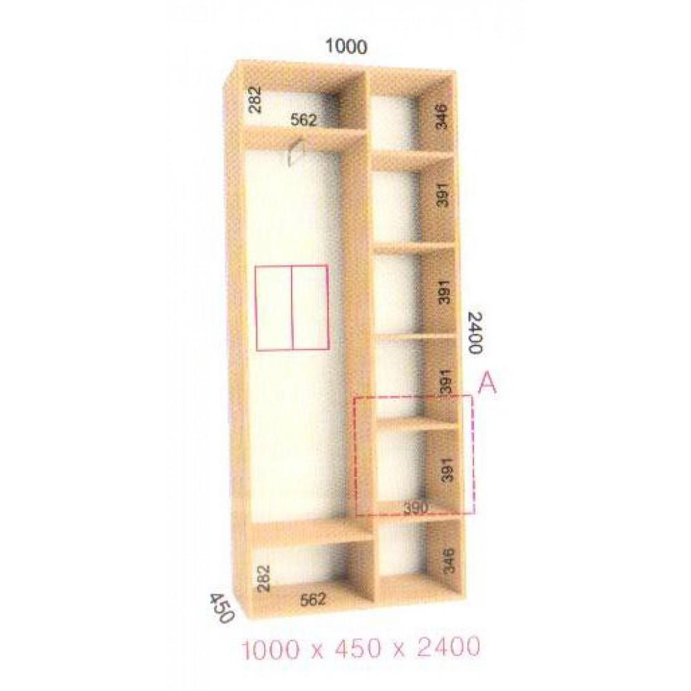 Шкаф-купе Стандарт (1.0х0.45х2.4)