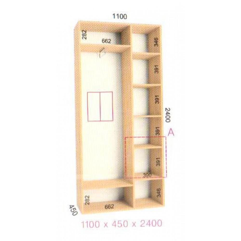 Шкаф-купе Стандарт (1.1х0.45х2.4)