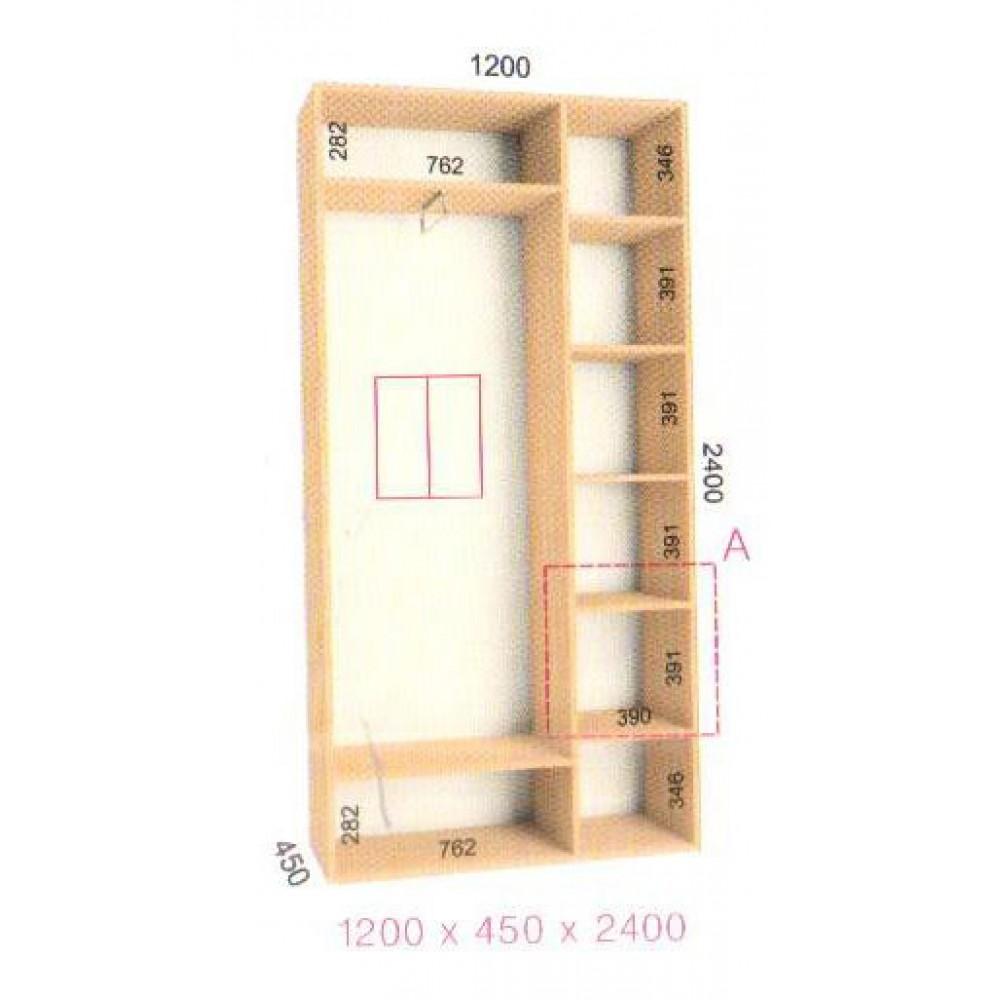 Шкаф-купе Стандарт (1.2х0.45х2.4)