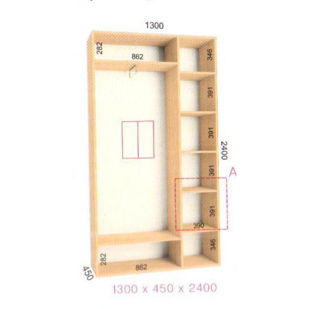 Шкаф-купе Стандарт (1.3х0.45х2.4)