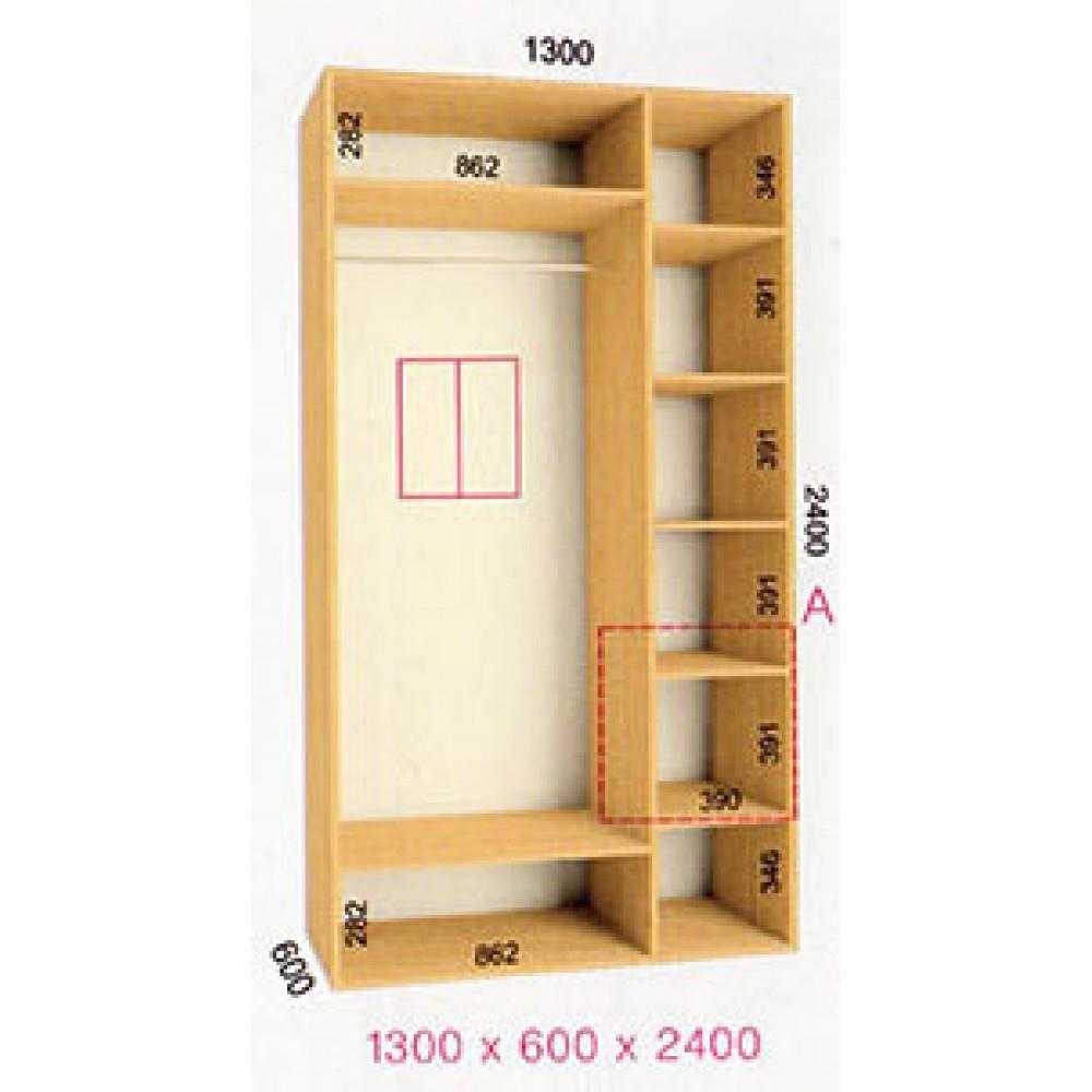 Шкаф-купе Стандарт (1.3х0.60х2.4)