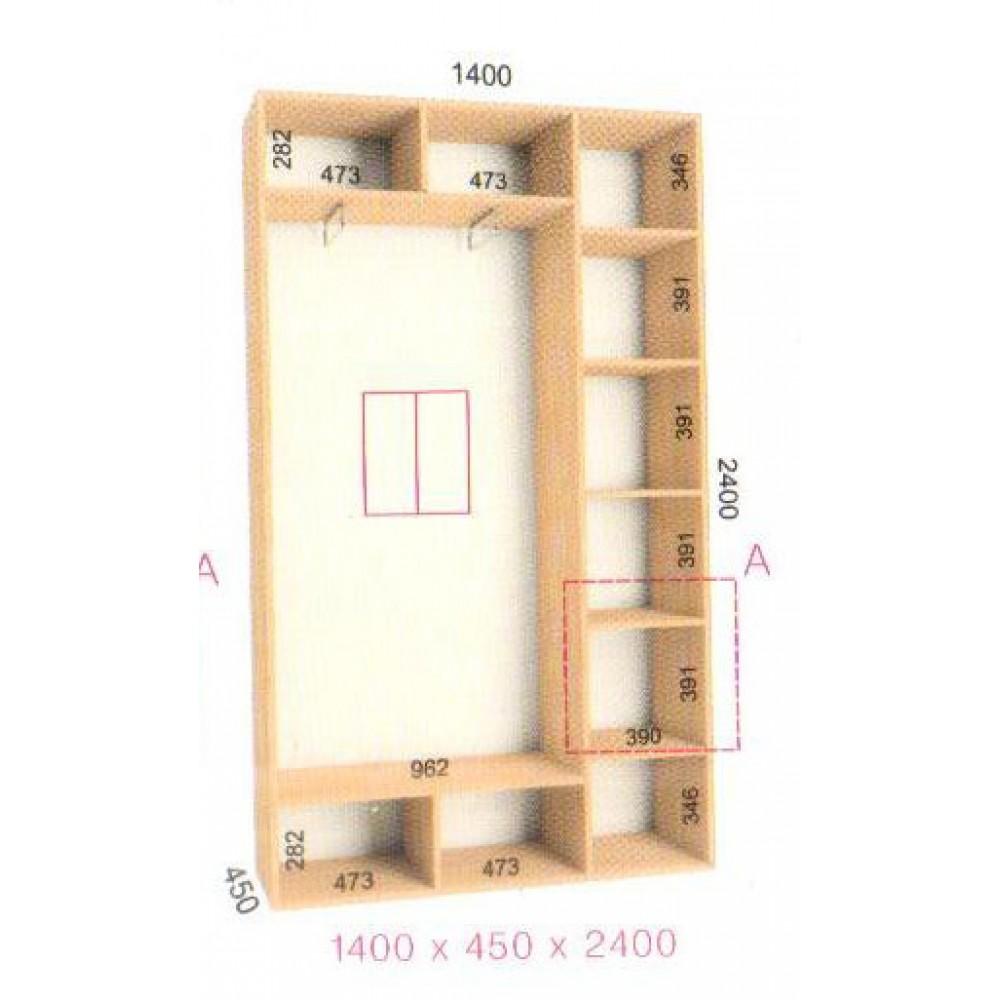 Шкаф-купе Стандарт (1.4х0.45х2.4)