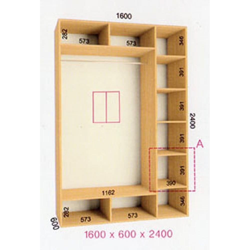Шкаф-купе Стандарт (1.6х0.60х2.4)