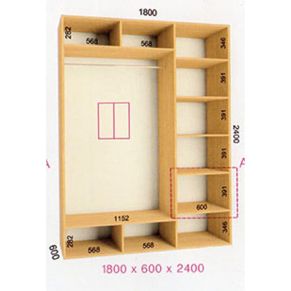 Шкаф-купе Стандарт (1.8х0.60х2.4)