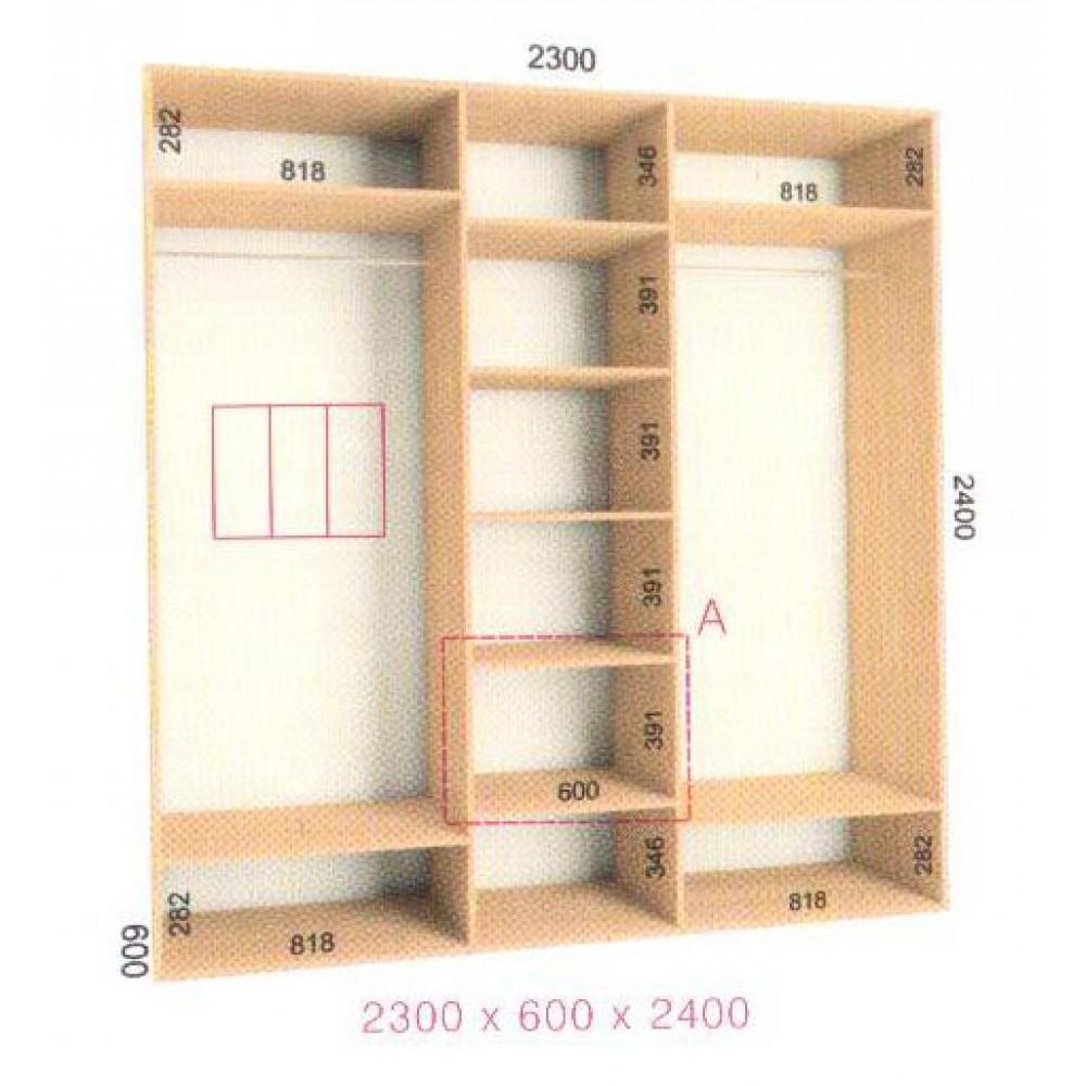 Шкаф-купе Стандарт (2.3х0.60х2.4)